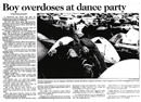 Boy overdoses at dance party - Christchurch Press, 2 January 1998