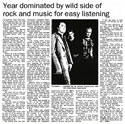 Year dominated by wild side of rock and music for easy listening - The Dominion, 22 December 1998
