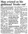 Man evicted as his girlfriend 'freaks out' - Christchurch Press, 3 January 2001