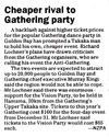Cheaper rival to Gathering party - Christchurch Press, 6 November 2000