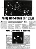An upside-down Christmas; Kiwi Christmas in London - Christchurch Press, 16 December 2000