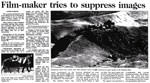 Film-maker tries to suppress images - Christchurch Press, 31 August 2000