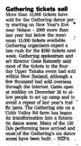 Gathering tickets sell - Evening Post, 23 December 2000