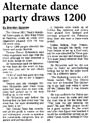 Alternate dance party draws 1200 - Nelson Mail, 2 January 2001
