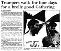 Trampers walk for four days for a brolly good Gathering - Nelson Mail, 3 January 2001