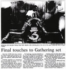 Final touches to Gathering set - Nelson Mail, 23 December 2000