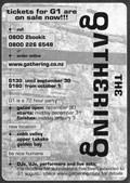 tickets for G1 are on sale now!!! - The Package advert, 17-23 August 2000