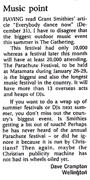 Music point - Sunday Star-Times, 7 January 2001