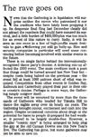 The rave goes on - Nelson Mail editorial, 22 July 2002
