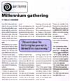 Millennium gathering - Canta magazine, 1 September 1999