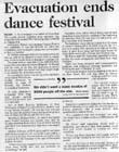 Evacuation ends dance festival - Christchurch Press, 4 January 2000